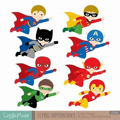 Superhero Clipart Superheroes Flying