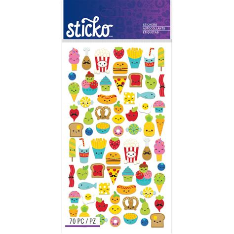 cuisine stickers mini food characters sticker kawaii food stickers 2 packs