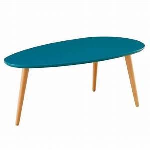 Table Basse Gigogne Scandinave : stone table basse scandinave laqu e bleu paon satin l ~ Voncanada.com Idées de Décoration