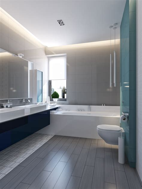 Modern Bathroom Blue by Modern Vibrant Blue Bathroom 3 Interior Design Ideas