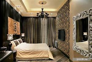 bedroom of classic and glamour apartment interiors in With interior design glamour bedroom