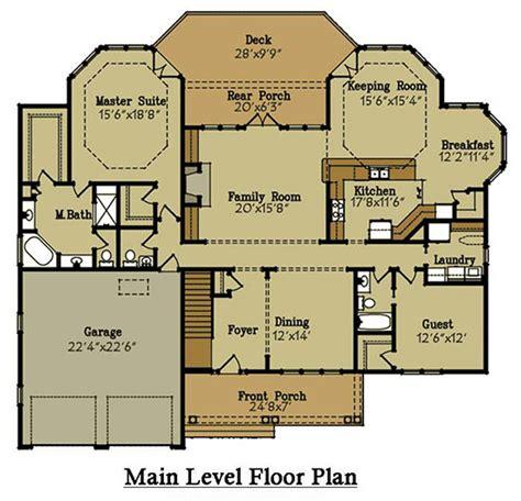 brick home floor plans brick lake house plan with an open living floor plan