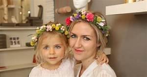 Couronne De Fleurs Mariage Petite Fille : diy couronne de fleurs un tuto sp cial m re fille ~ Dallasstarsshop.com Idées de Décoration