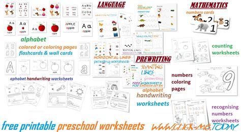 printable preschool worksheets  toddlers