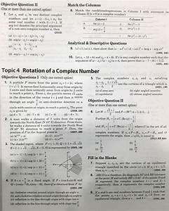 Complex Numbers Jee Advanced 38 Year Previous Year