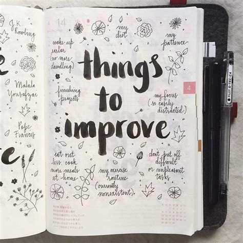 Decoration Ideas For Diary by Things To Improve Page Diary Ideas