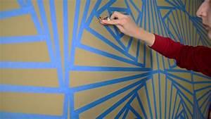 Wandgestaltung Mit Klebeband : purer wahnsinn m dchen gestaltet wand in aufw ndigem ~ Lizthompson.info Haus und Dekorationen