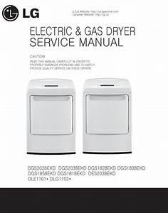 Lg Dle1101w Dlg1102w Service Manual  U0026 Repair Guide