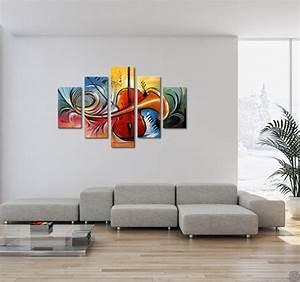 Tableau Plusieurs Panneaux : abstract music modern painting artwall and co ~ Teatrodelosmanantiales.com Idées de Décoration