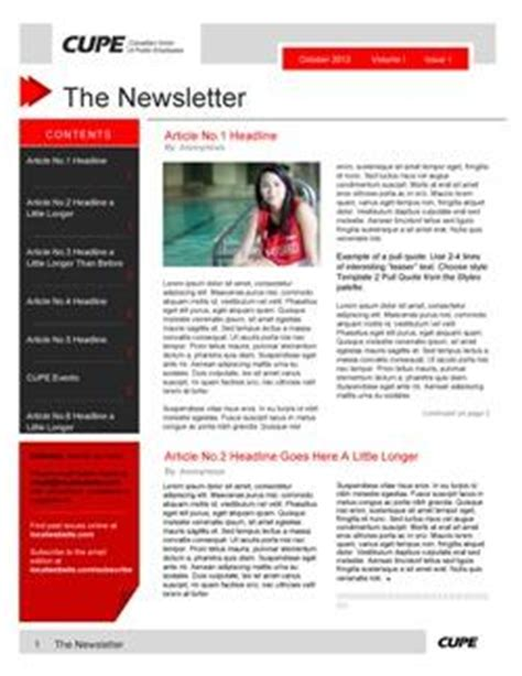 employee newsletter templates newsletter templates canadian union of employees