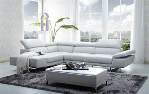 1717 italian leather modern sectional sofa for Home furniture design pune