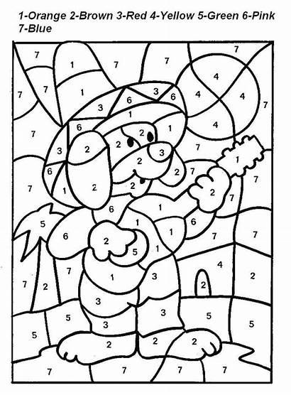 Number Coloring Printable Pages Worksheet