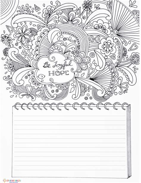 gratitude journal template  coloring page
