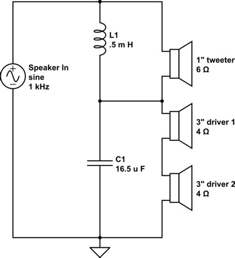 Audio Calculating Impedance Two Way Speaker