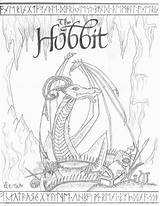 Coloring Hobbit Sketch Printable Smaug Deviantart Colouring Dragon Lord Rings Lego Drawings Tolkien Wood Map Everfreecoloring Adult Sketches Hole sketch template