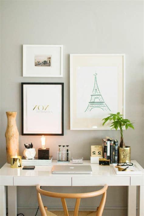 bureau d馗oration comment décorer un bureau laqué blanc 61 photos inspirantes archzine fr