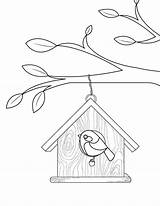 Coloring Birdhouse Pages Printable Bird Colouring Birds Printables Templates Museprintables Houses Pdf Birdhouses Applique Getcolorings Designs Patterns Getdrawings sketch template