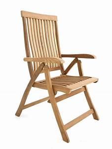 Chaise Teck Jardin : chaise jardin haut de gamme dossier inclinable saloon ~ Teatrodelosmanantiales.com Idées de Décoration