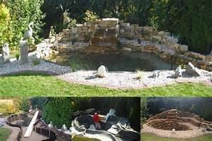 Steinmauer Mit Wasserfall : teich mit wasserfall garten wasser stein ~ Markanthonyermac.com Haus und Dekorationen