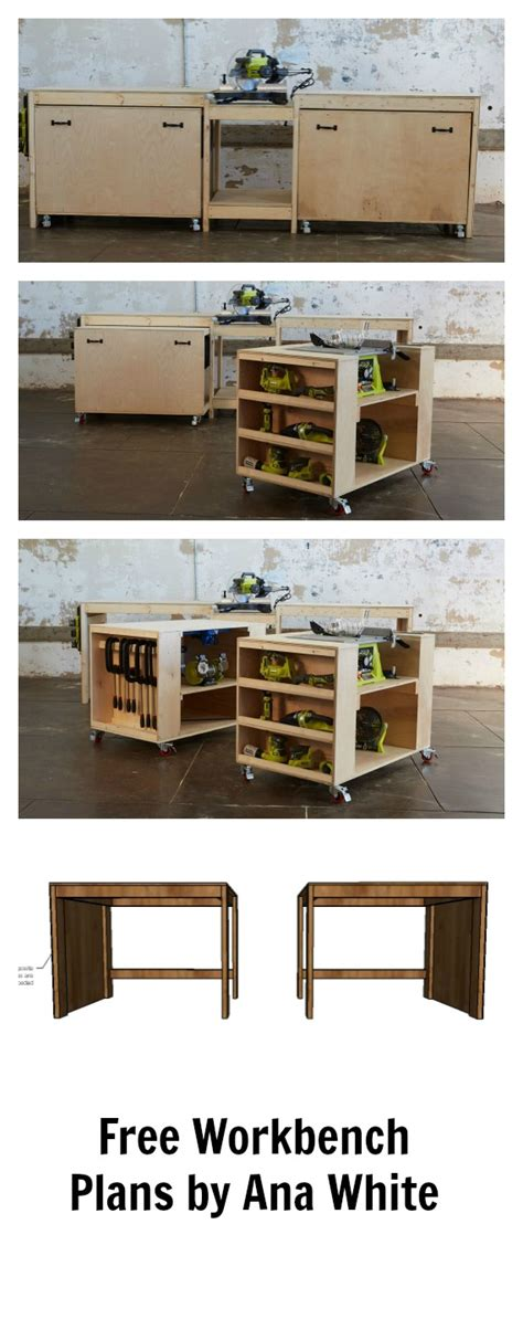 roll up table plans ana white ultimate roll away workbench system for ryobi