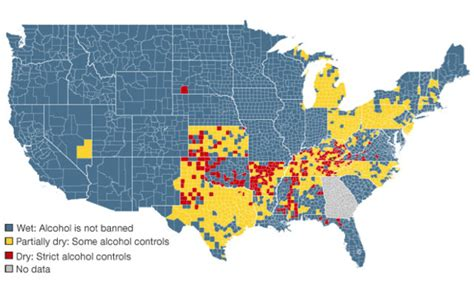 Where Not To Visit The Us Guide To Dry Counties Geekologie