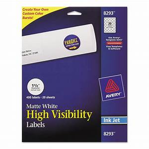vibrant color printing round address labels by avery With avery round sticker labels