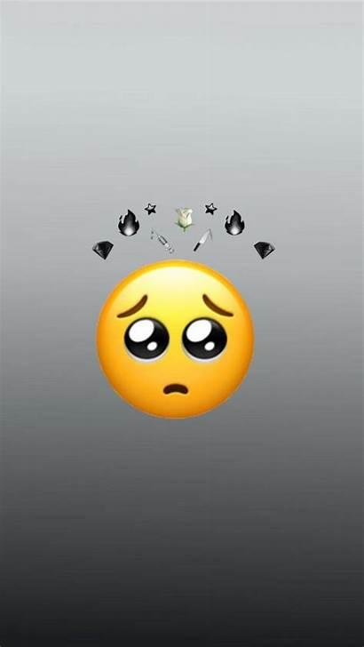 Emoji Iphone Hard Sad Aesthetic Wallpapers Background