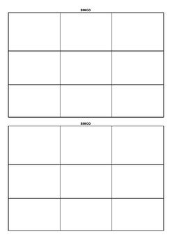 blank bingo cards 3x3 by madeleine lifsey teachers pay