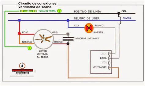 esquemas electricos conexion ventilador techo proyectos  intentar en  esquemas