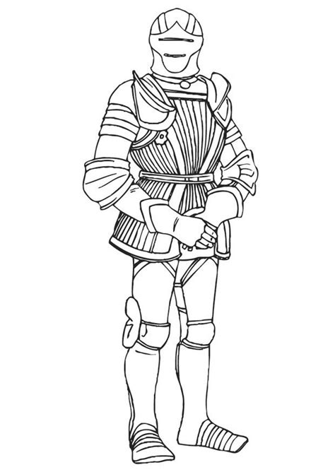 dibujo  colorear caballero  armadura img
