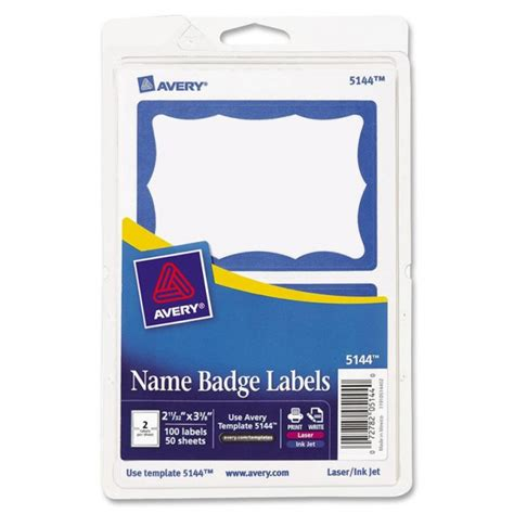 avery badge labels avery name badge labels 100 pk blue border ld products