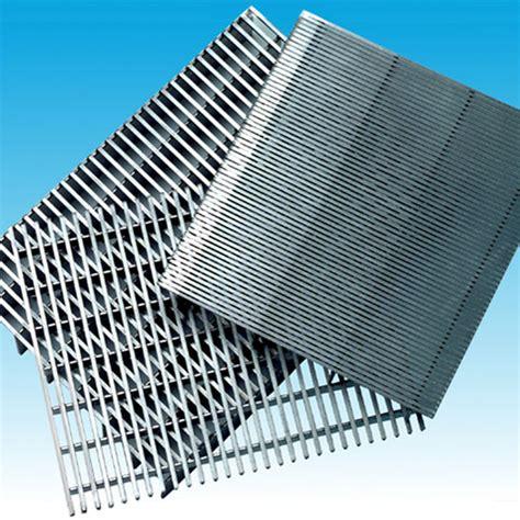 grille plate ou cylindrique en acier inoxydable euroslot