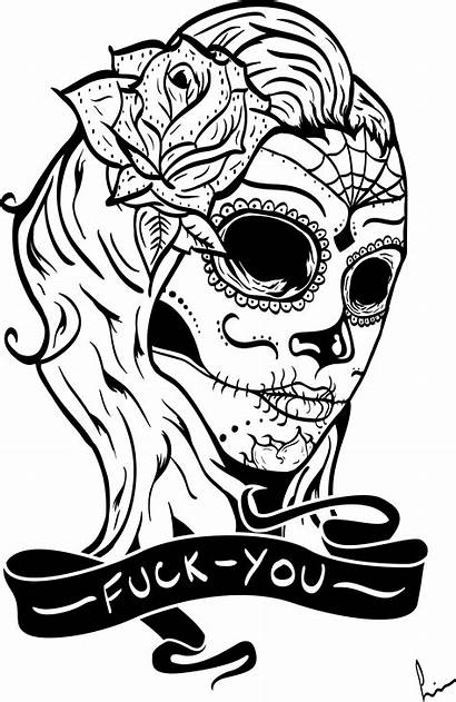 Skull Mexican Coloring Pages Sugar Deviantart Adults