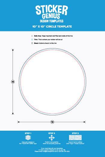circle sticker templates sticker genius