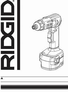 Ridgid Power Screwdriver R81030 User Guide