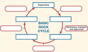 Solved  Label The Rock Cycle Diagram In Figure 1figure 1 Rock C