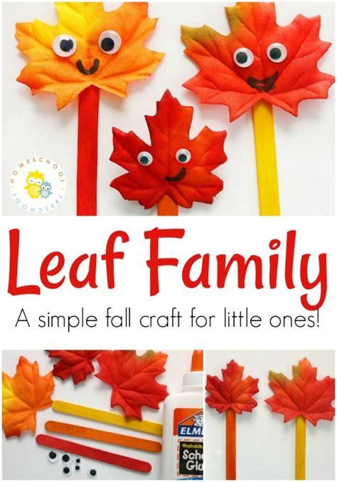 simple leaf craft  toddlers  preschoolers