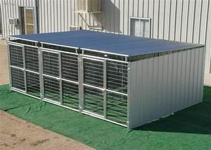 dog kennel heavy duty 3 run 639x1239x639 3 sides roof With metal dog kennel and run