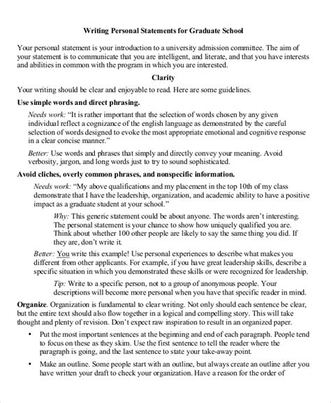 Writing A Graduate School Personal Statement Computer Science