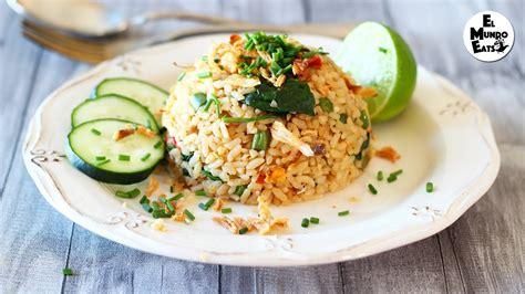 spicy anchovy fried rice nasi goreng kampung youtube