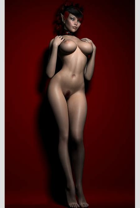 Fantasy girl with a hot 3D body and a fine mound in the nude