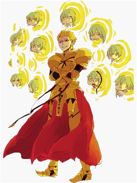 gilgamesh using the best weapon sticker by yivel redbubble