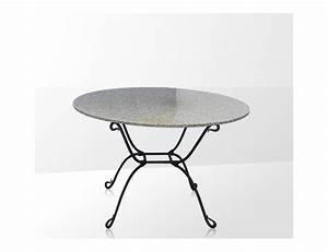 Table Fer Forgé Occasion : la m tallerie table ronde en fer forg plateau en verre ~ Teatrodelosmanantiales.com Idées de Décoration