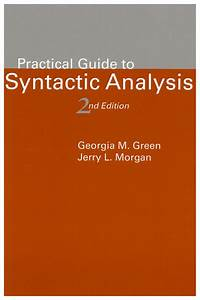 Practical Guide To Syntactic Analysis  2nd Edition