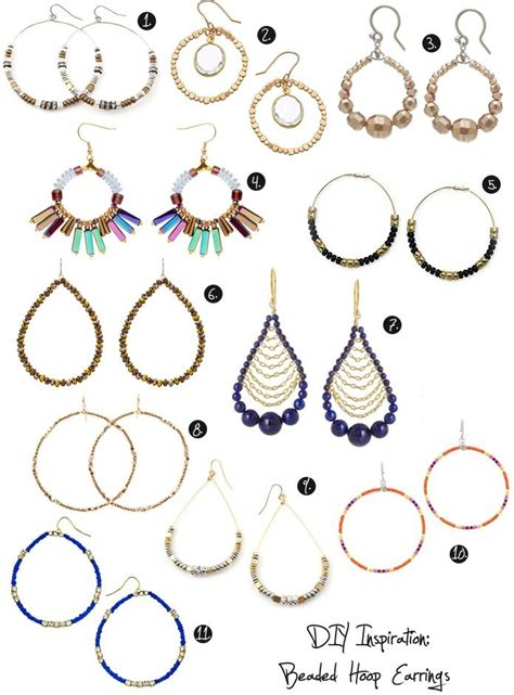 Design Thrift Blog  Diy Inspiration Beaded Hoop Earrings