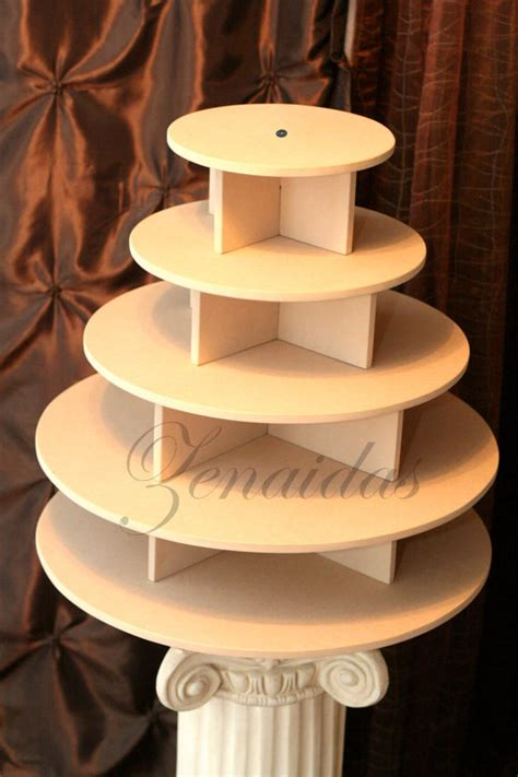 Cupcake Stand For 100 Cupcakes cupcake stand 5 tier round mdf wood unpainted diy 100 cupcake