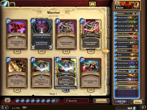 Warrior Deck Hearthpwn by Top 150 Legend Finley Warrior Guide