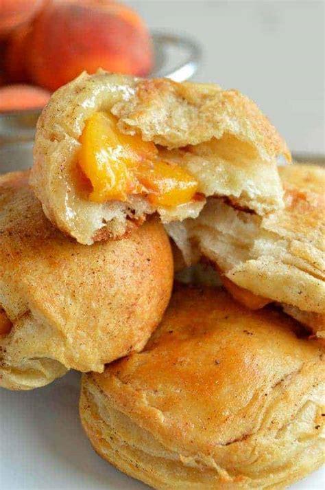 Peach Pie Biscuit Bombs Sugar Dish