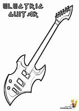 Coloring Guitar Pages Musical Instruments Electric Guitars Instrument Rock Yescoloring Custom Bass Cool Drums Piano Sheets Country Gritty Else Wants sketch template