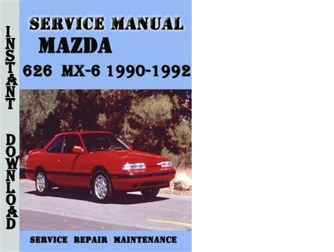 manual repair autos 1992 mazda 626 regenerative braking mazda 626 mx 6 1990 1992 service repair manual download manuals